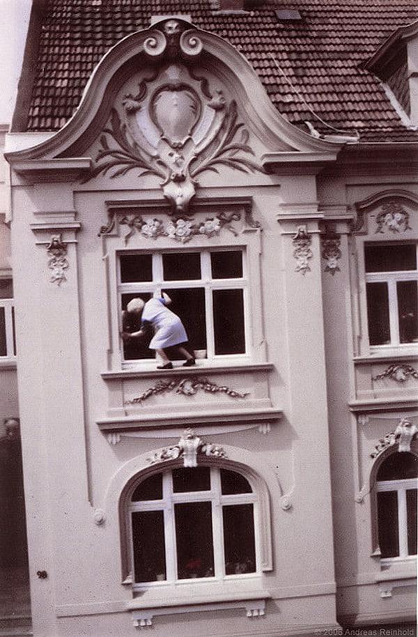 Vintage Dangerous Window Cleaning